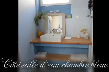 salle d'eau chambre bleue